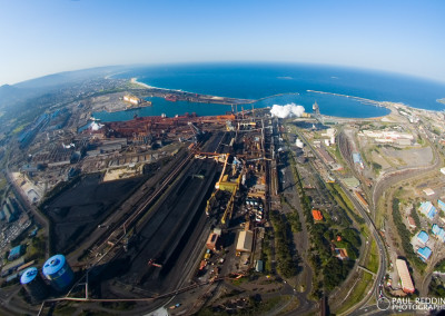 Aerial Blue Scope Port Kembla Works. - Paul Redding, Steel Mill Photographer Hobart Tasmania