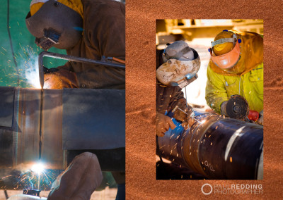 Pipe welding photographer, Construction site photographer - Paul Redding Hobart