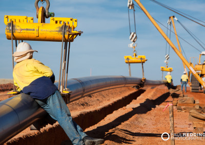 Pipe Laying - Epic Energy QSN3 Gas Pipeline by Gas Pipeline Photographer Paul Redding Hobart Tasmania Australia