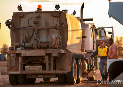 Water Truck - Epic Energy QSN3 Gas Pipeline by Gas Pipeline Photographer Paul Redding Hobart Tasmania Australia
