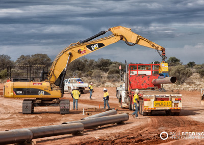 Stringers Epic Energy QSN3 - Gas Pipeline construction site Photographer Paul Redding Hobart Tasmania