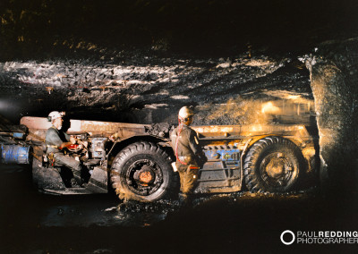 Under ground Coal Mining Photographer- Paul Redding Photographer Hobart Tasmania